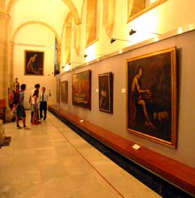 Paintings on display in the Cathedral