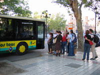 Airport Bus run by Los Amarillos