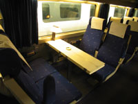 Seats on the AVE high speed train